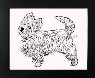 West Highland Terrier Vinyl Design Template